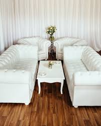 Chesterfield Sofas Uk by Luxury British Made White Leather Chesterfield Sofa Set Low Back
