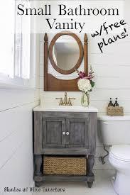 Bathroom Cabinet Plans Small Master Bathroom Vanity Free Plans