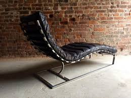 Vintage Chaise Lounge Vintage Mid Century Leather Chaise Lounge From Oviedo For Sale At