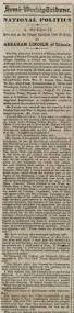 abraham lincoln thanksgiving proclamation text a new york newspaper prints lincoln u0027s cooper union speech on the
