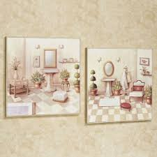 Mirrors Bathroom Scene by Bath Wall Accents Touch Of Class