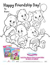 care bears wonderheart printable friendship coloring