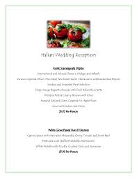 wedding reception planner grand italian wedding reception menu jacksonville caterer and event