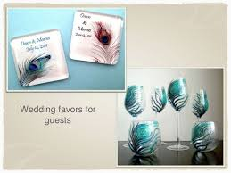peacock wedding favors peacock theme wedding ideas