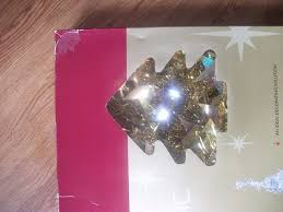 3 foot gold pop up holographic christmas tree easy assembly in