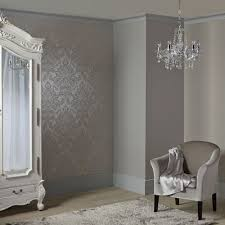 arthouse precious metals glisten damask wallpaper gunmetal gold
