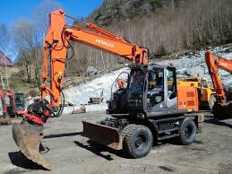 hitachi zx 140 w t 3 wheeled excavators construction equipment