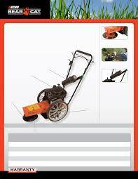 echo bear cat trimmer wt190 user guide manualsonline com