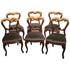 antique dining rooms set of six mahogany victorian period antique dining chairs for