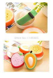 Waffle Weave Kitchen Towels Fruit Type Sponge Candy Color Dishclout Bowl Microfiber Cleaning