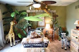 Jungle Home Decor Jungle Themed Bedroom Wooden Ladder Arbors And Plank