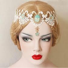 hair accesory luxury royal style lace flower pendant hair band bohemia
