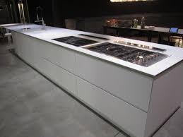 ex display kitchen island boffi k14 matt white large handleless island with corian