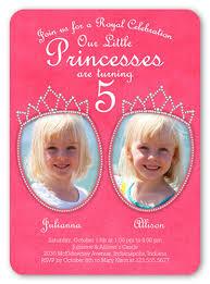 folded 1 photo 2 photo twin kids birthday invitations u0026 twin