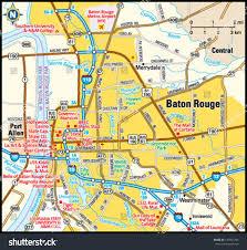 Louisiana Plantations Map by Baton Rouge Louisiana Area Map Stock Vector 139401293 Shutterstock