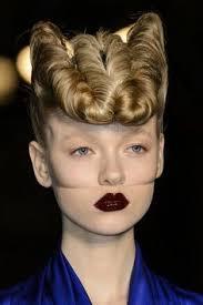 disarray hair style toni and guy coupe plaquée avec deux raies sur le défilé ferre my passion