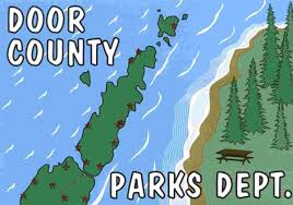 Door County Wisconsin Map by Door County Parks System