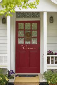 dark brown color of front door with contemporary style f design