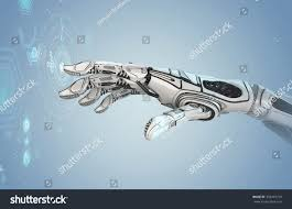futuristic design concept robotic mechanical arm stock
