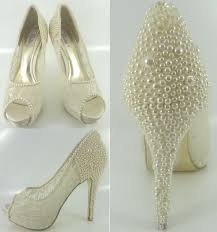 pearl wedding shoes lace bridal shoes pearl encrusted ivory lace wedding shoes