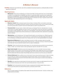 Resumes For Moms Returning To Work Examples by A Mother U0027s Résumé Because It U0027s 2016 Huffpost