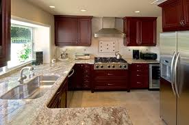 what color granite looks best with cherry cabinets best backsplash colour for stained wood cabinets advice