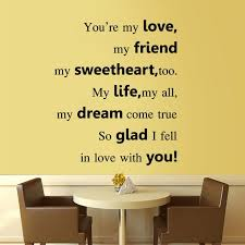 Wedding Proverbs You U0027re My Love Sweetheart Friend Dream Wall Quotes Sticker Lover