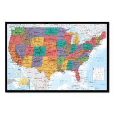 Map With Pins Usa Map Pinboard Cork Board With Pins Iposters