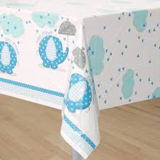 blue elephant baby shower decorations elephant baby blue table cover at dollar carousel