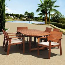 Home Depot Com Patio Furniture - hampton bay oak heights 7 piece patio dining set with cashew
