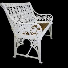 antique victorian coalbrookdale cast iron garden bench 377579