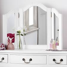 white vanity table with mirror shabby chic white dressing table mirror bedroom furniture direct