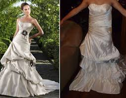 wedding dresses online shopping a wedding dress was delivered which looked totally different to