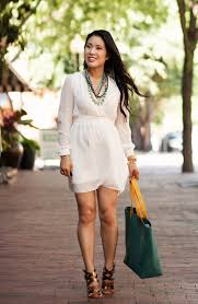 statement necklace with dress images White chiffon statement jewelry stella dot stylist cute jpg