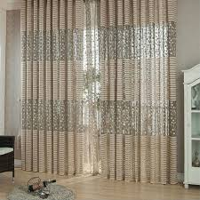 Embroidered Curtain Panels Aliexpress Com Buy Warp Knitting Leaf Pattern Tulle Window