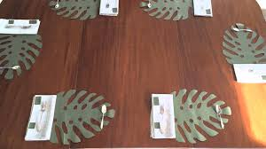 how to set the table palm frond placemat youtube