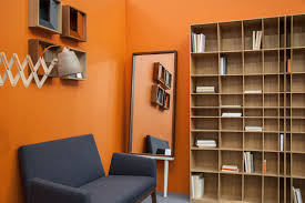 Orange Color by 15 Chic Living Room Colors