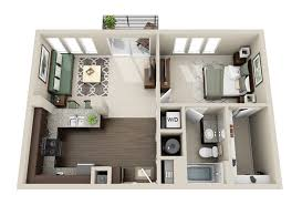 Single Bedroom Apartment Floor Plans One Bedroom Apartment Layouts Google Search Houses Apartments
