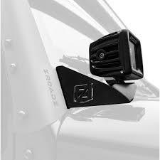 Cube Lights Zroadz Z374814 Kit Jeep Wrangler A Pillar Mount Kit W 3