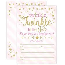 twinkle twinkle baby shower invitations twinkle twinkle baby shower invitations
