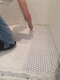 flooring penny tile floor best ideas about floors on pinterest