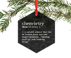 chemistry definition glass ornament chemistry