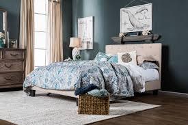 Bed Frame Sears Furniture Of America Harmen Upholstered Platform Bed