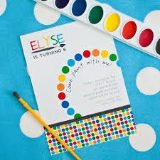 rainbow arts u0026 crafts birthday party printable invitation 18