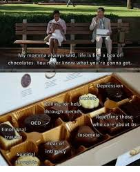 Life Is Like A Box Of Chocolates Meme - 25 best memes about life is like a box of chocolates life is