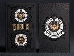 30 exquisite exles of black and gold business cards