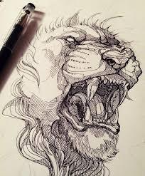 25 lion drawing ideas lion art lion painting