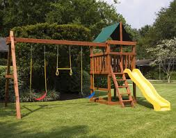 do it yourself wooden playset and swingset plans