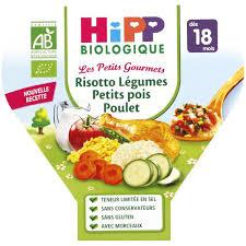 cuisine bebe 18 mois 1 assiette risotto légumes petits pois poulet dès 18 mois 260g hipp