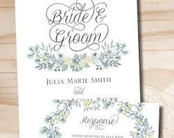 wedding invitation response card watercolor pine mountain wedding invitation response card